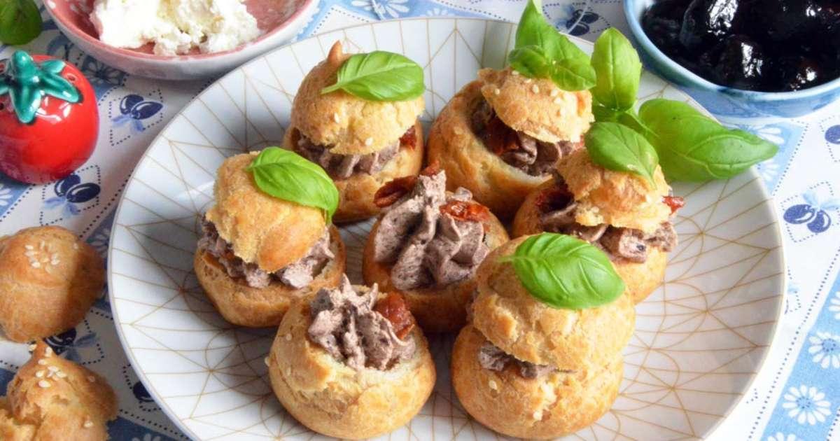 Mini choux tapenade et tomates s ch es pour l 39 ap ro recette par turbigo gourmandises - Cuisiner les tomates sechees ...