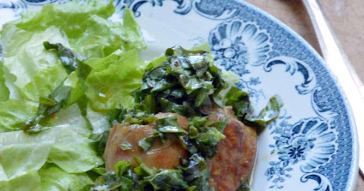 Lapin froid en sauce verte recette par petite cuill re - Cuisiner le lapin en sauce ...