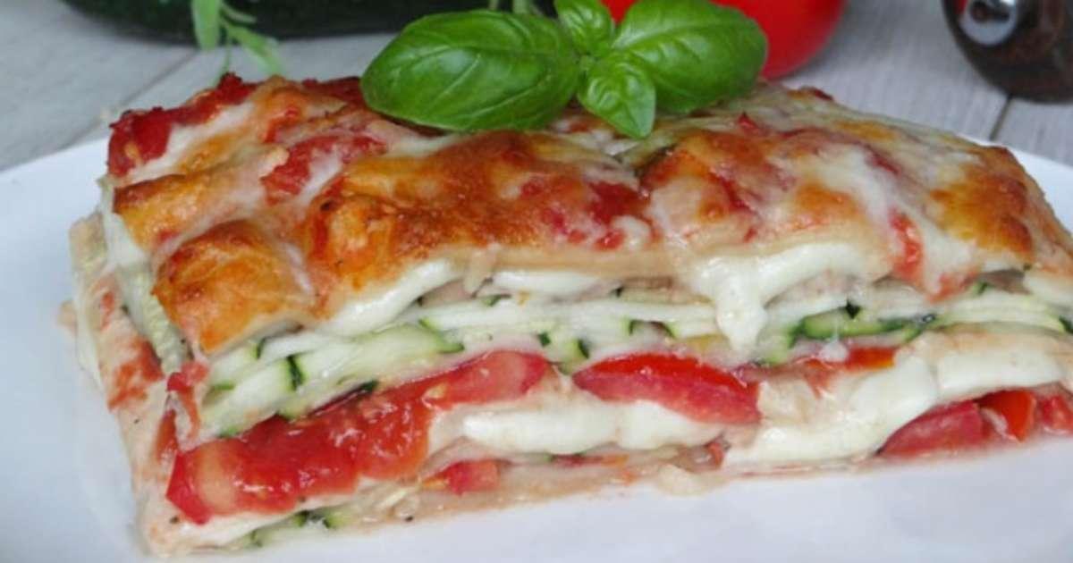 lasagnes v g tariennes aux courgettes tomates et mozzarella recette par la cuisine d 39 adeline. Black Bedroom Furniture Sets. Home Design Ideas