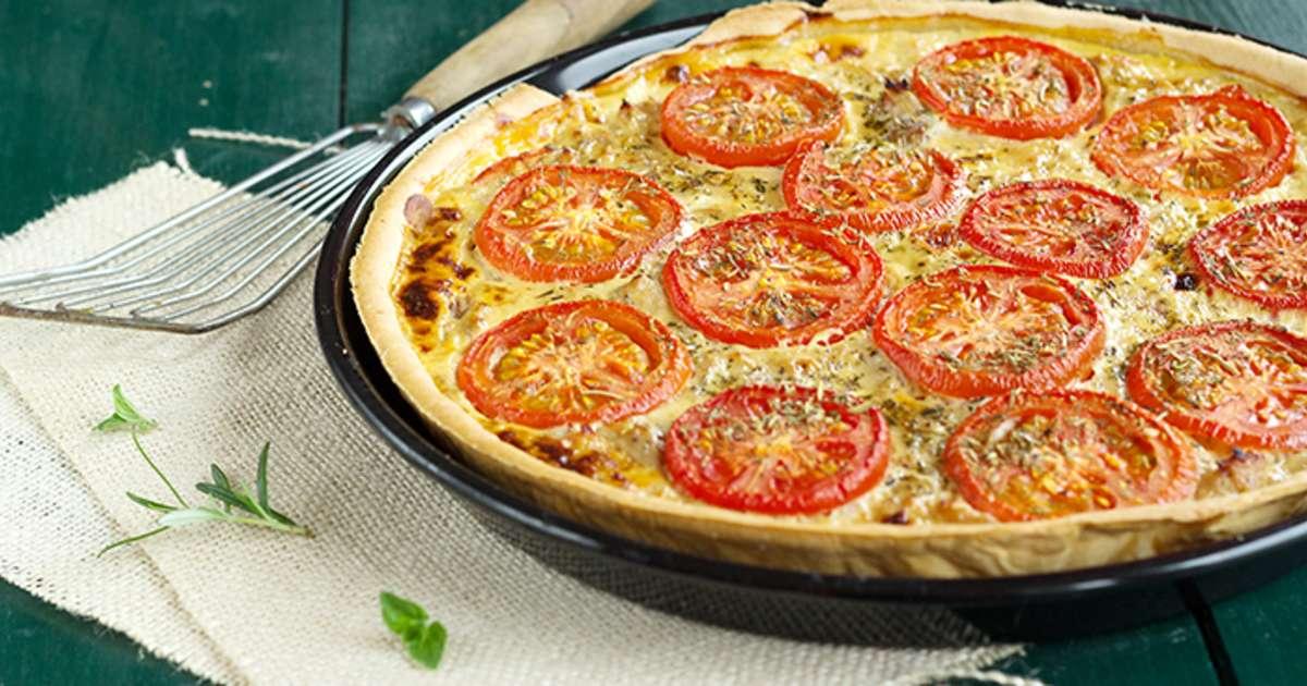 Recette : Tarte thon, tomates et moutarde