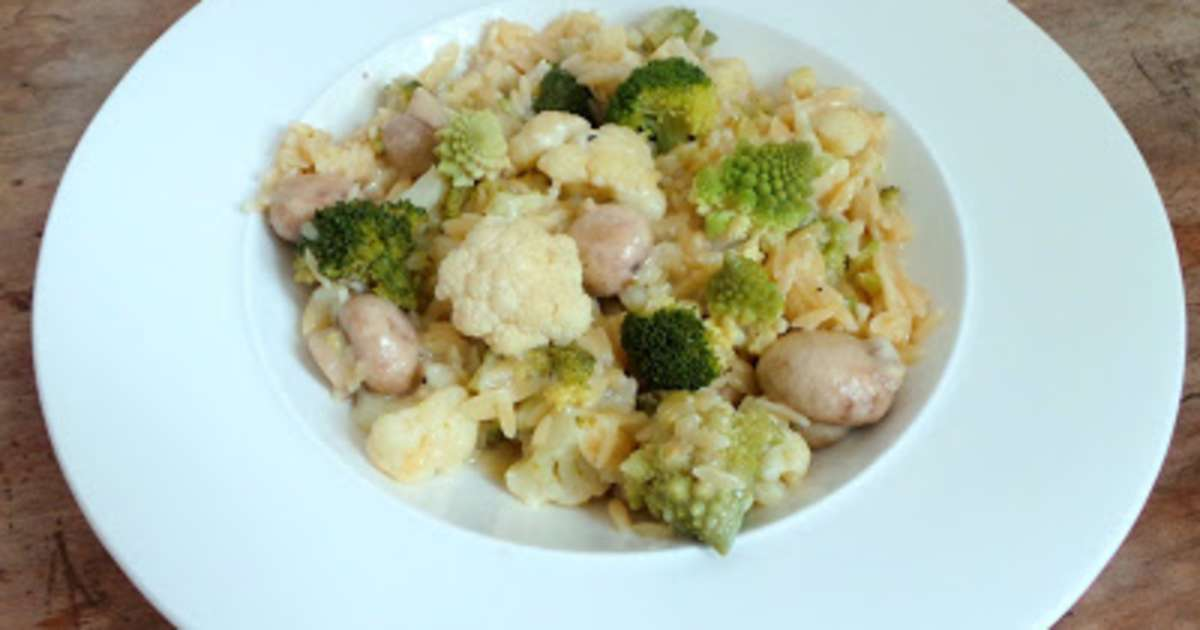 risotto de petites p tes aux 3 choux recette par my culinary curriculum. Black Bedroom Furniture Sets. Home Design Ideas