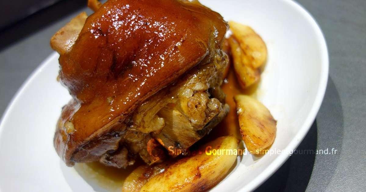 Jambonneau au cidre et aux pommes po l es simple - Cuisiner un jambonneau ...