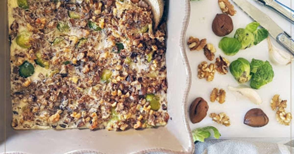 Gratin choux de bruxelles marrons noix et fromage de - Choux de bruxelles recette gratin ...