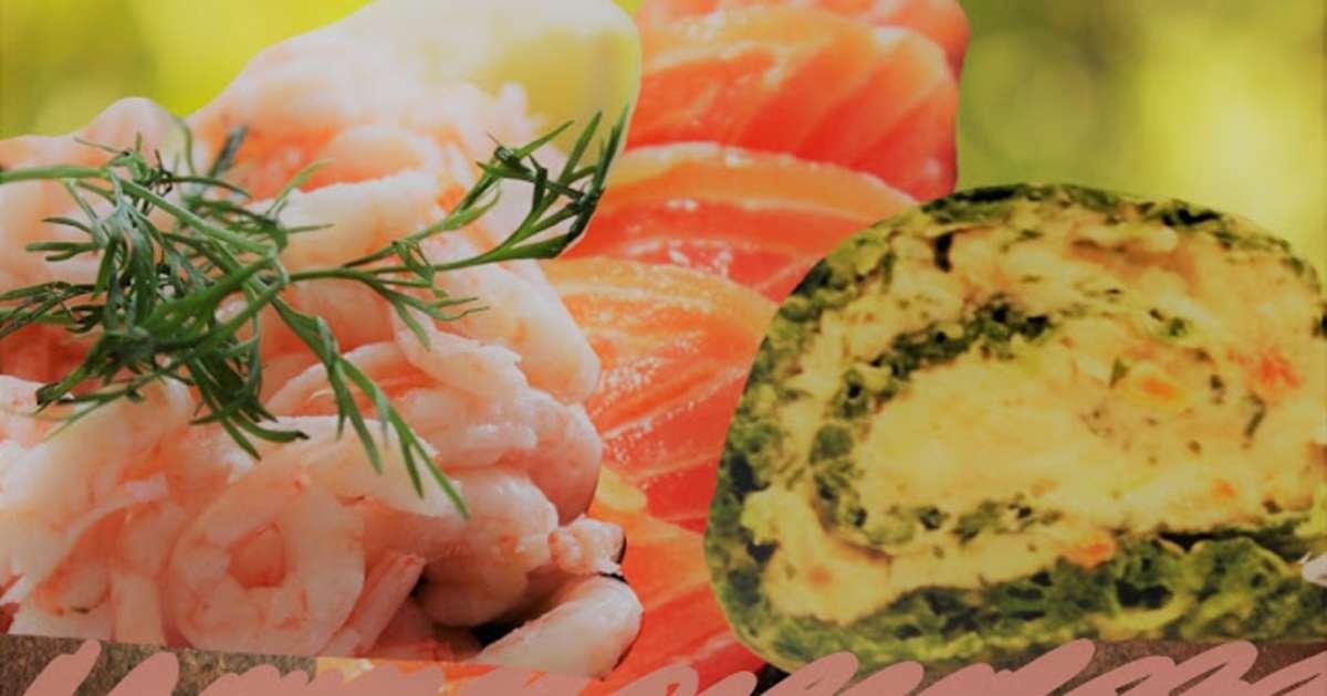 Roul au saumon et crevettes parfums oseille et aneth for Entree froide original