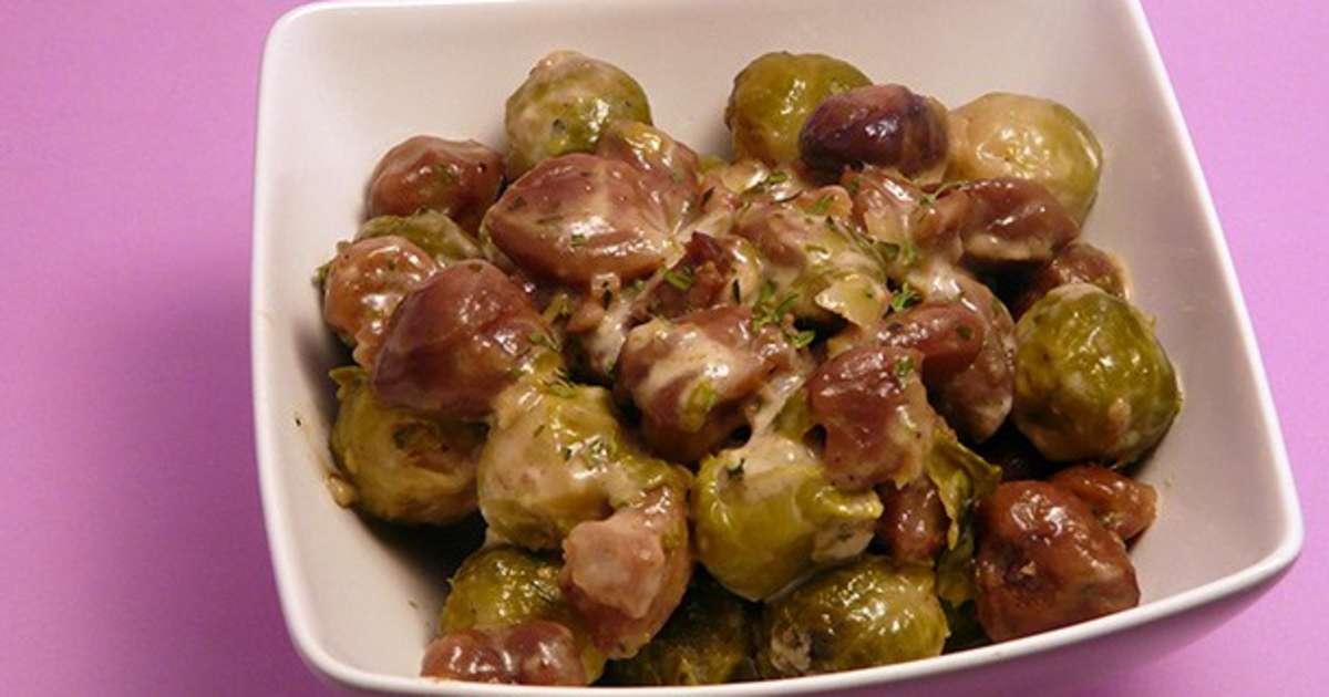 Choux de bruxelles aux marrons simple gourmand - Cuisiner chou de bruxelles ...