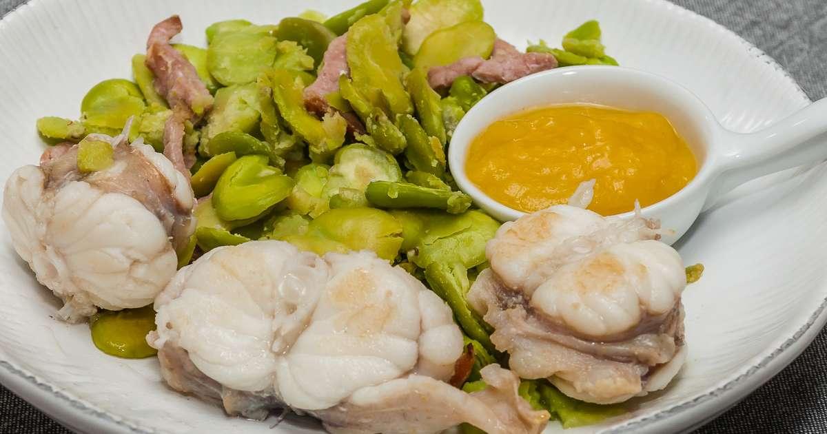 Po l e de lotte au coulis de mangue recette par kilometre 0 - Lotte a l armoricaine recette cuisine ...