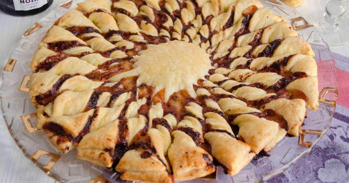 Tarte soleil basque recette par turbigo gourmandises - Recette tarte soleil salee ...