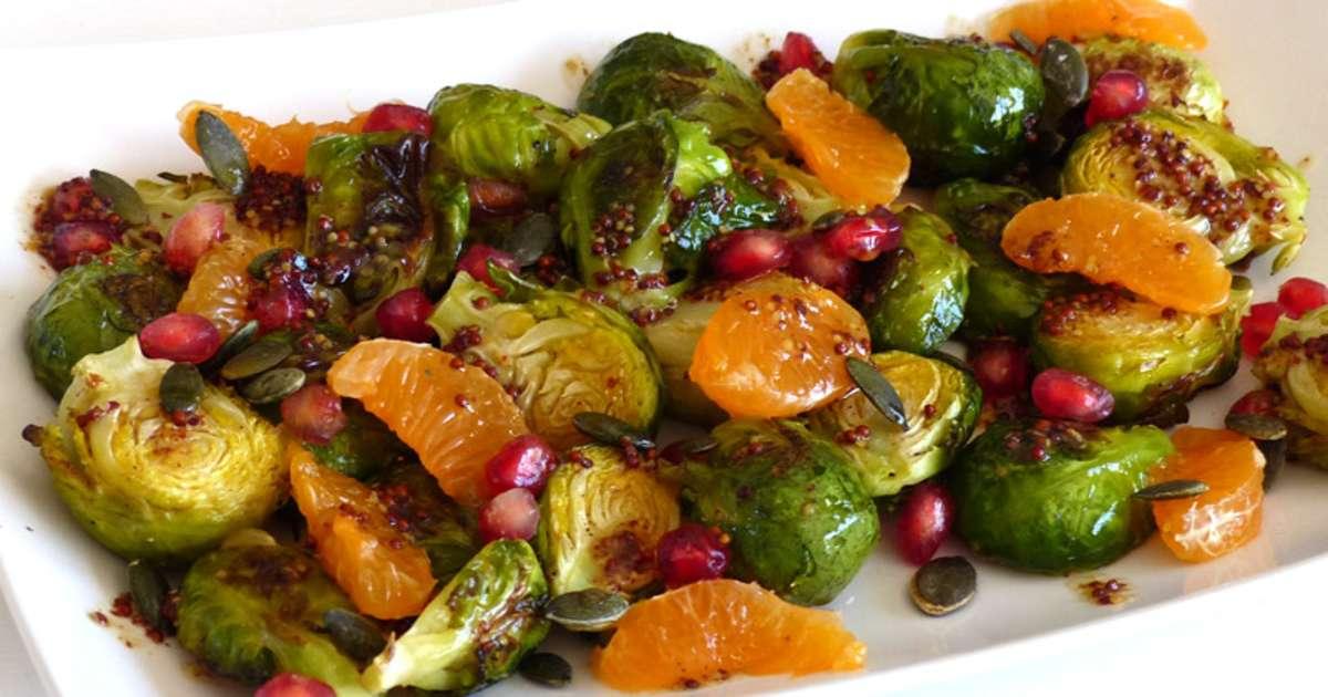 Salade ti de de choux de bruxelles la cl mentine et la grenade recette par marlyzen - Culture du choux de bruxelles ...