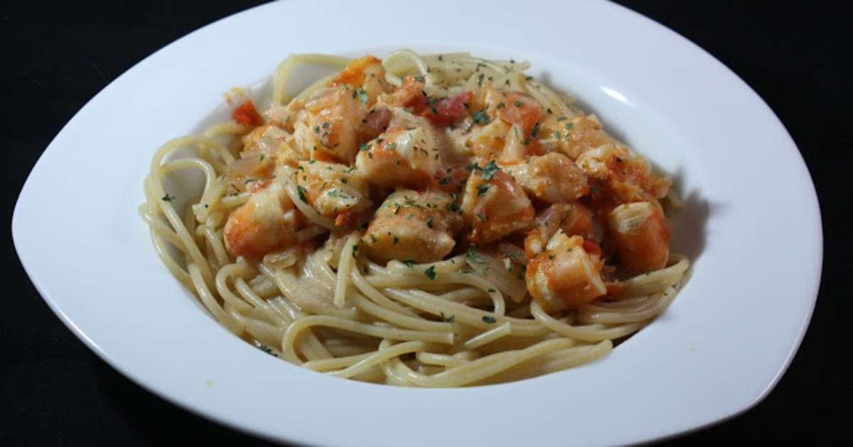 Spaghetti la langouste recette par les vagabondages de - Recette de langouste grillee antillaise ...