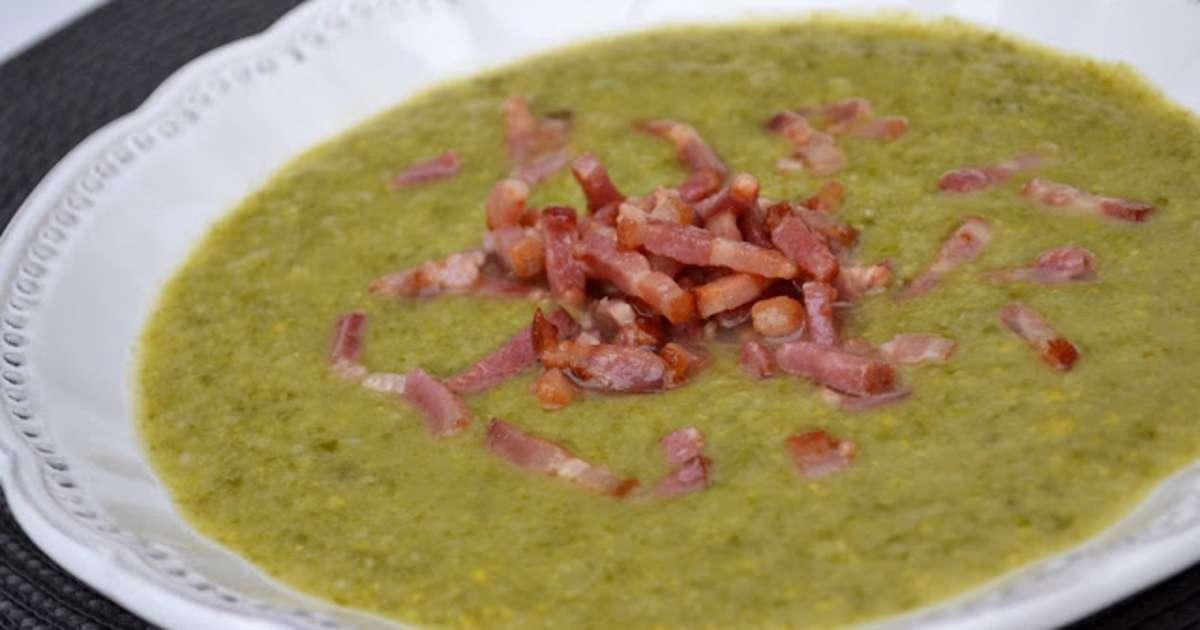 Soupe aux choux de bruxelles laitue ma s et lardons - Cuisiner choux de bruxelles ...