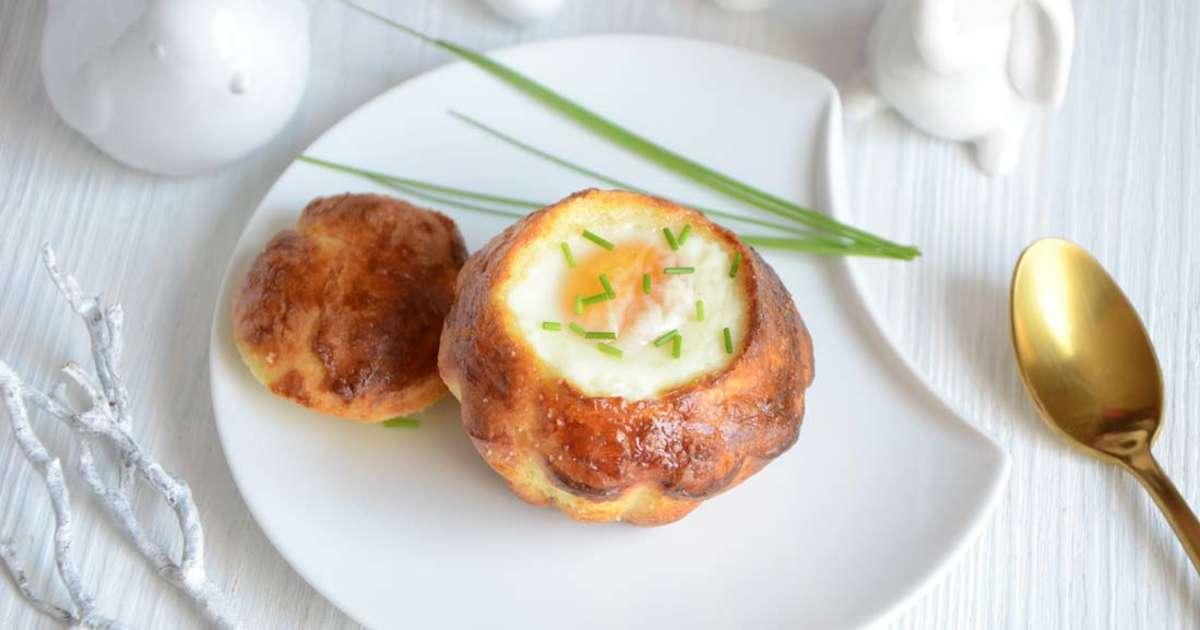 Brioches foie gras oeuf cocotte recette par turbigo for Idee entree noel original
