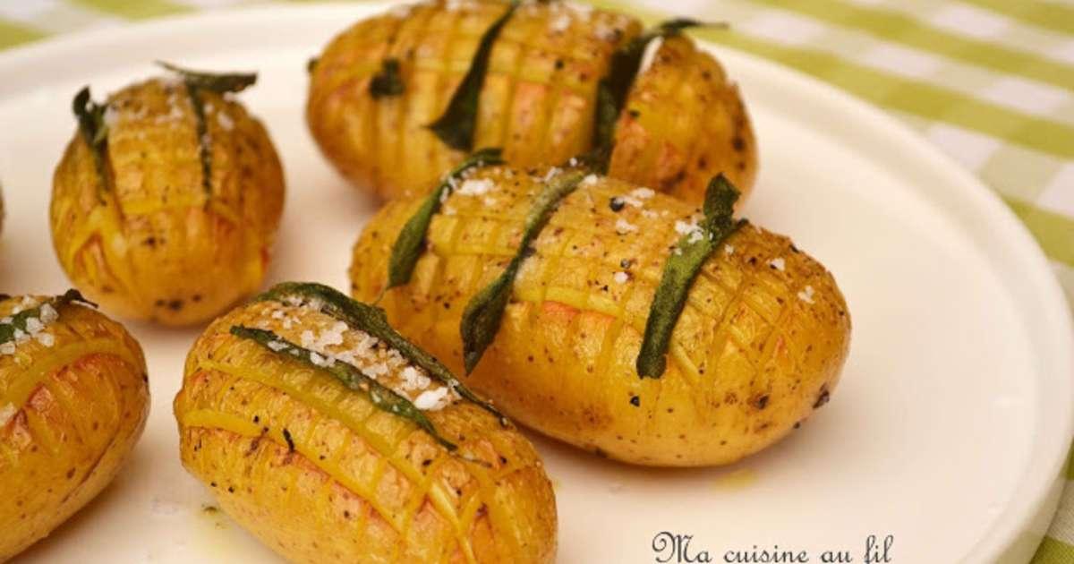 Pommes de terre hérissons à la sauge et fleur de sel - Recette par Ma cuisine au fil de mes idées