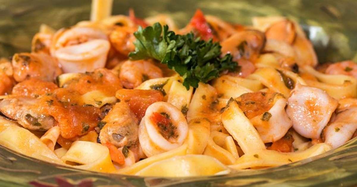 Penne aux fruits de mers sauce arrabiata recette par jackie - Pates aux fruits de mer vin blanc ...