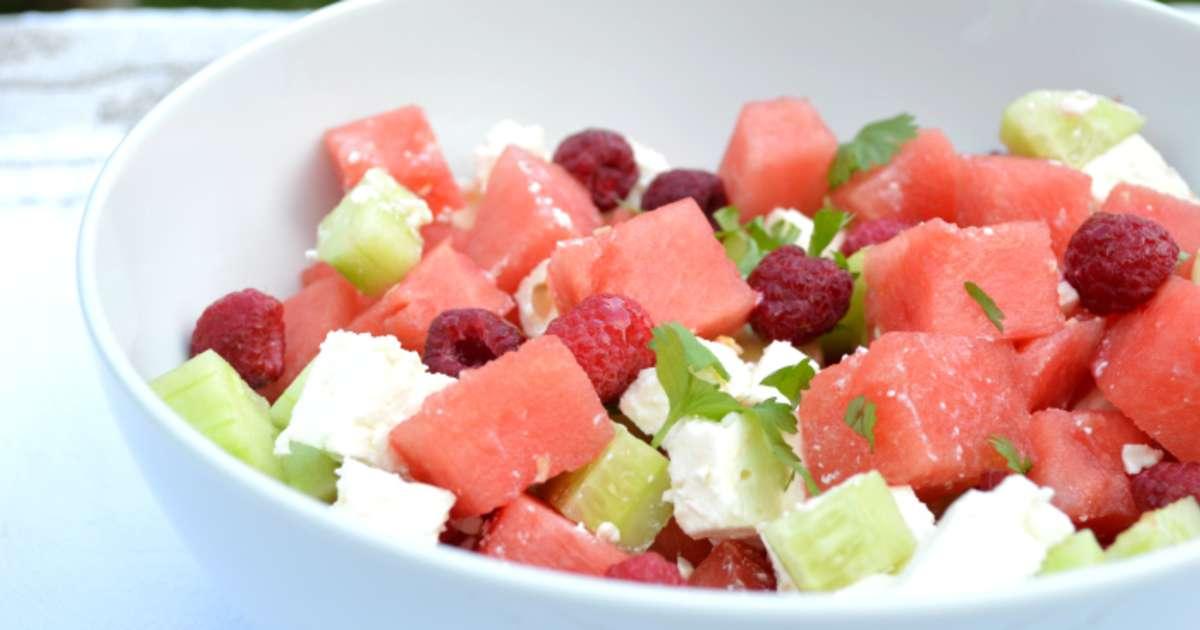 Salade d t past que framboises concombre feta for Entree froide ete
