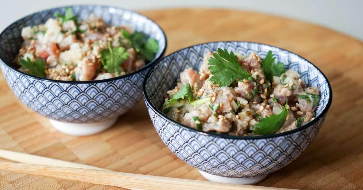 tartare de thon aux saveurs asiatiques recette de tartare de thon rouge ou albacore l. Black Bedroom Furniture Sets. Home Design Ideas