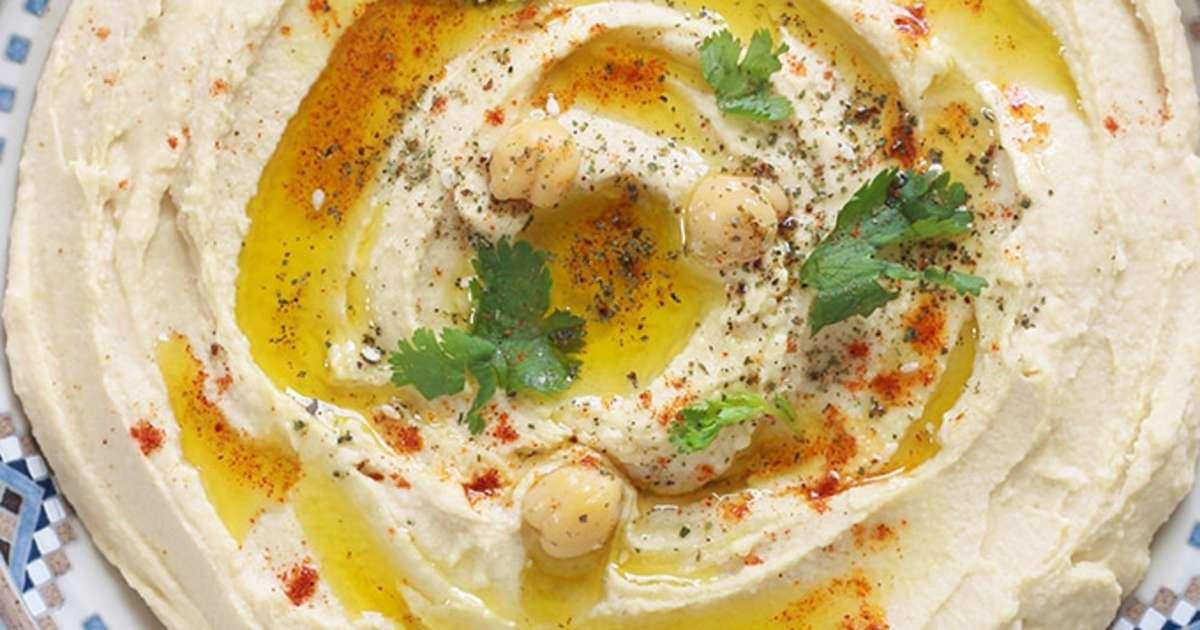 Houmous traditionnel pur e de pois chiches au tahini recette par cuisine culinaire - Houmous recette sans tahini ...