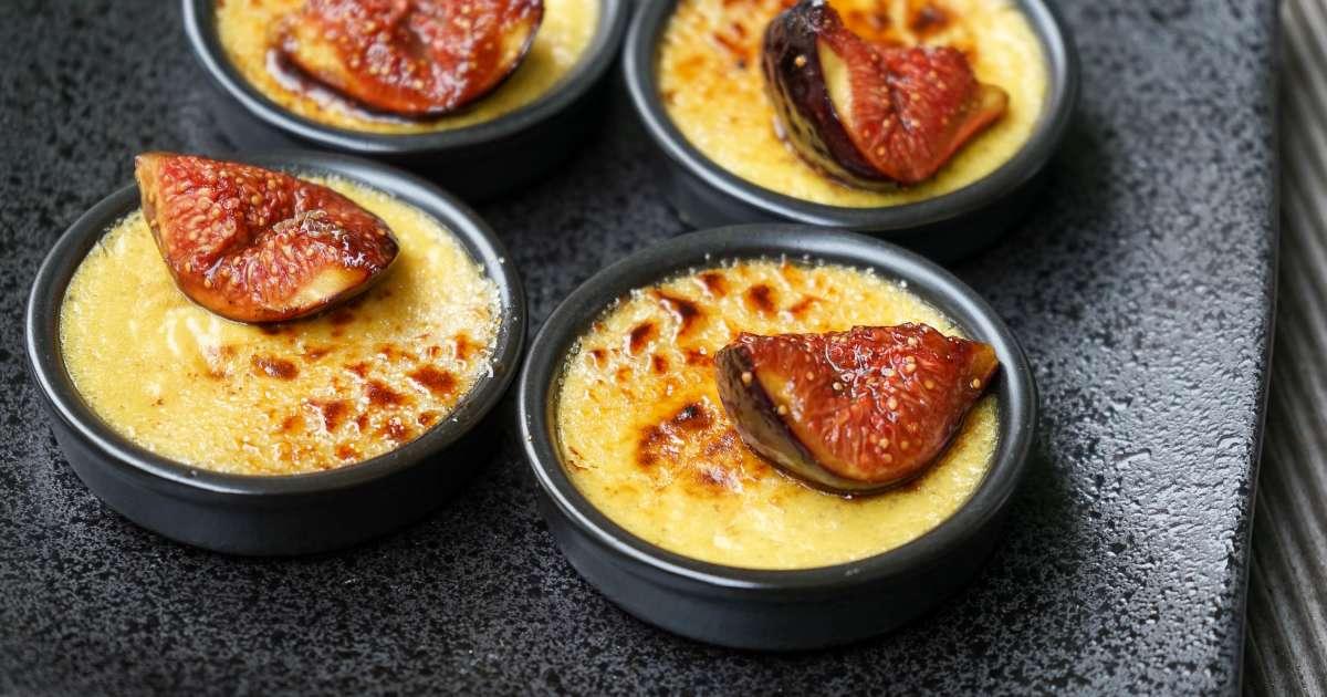 Cr me br l e au foie gras et aux figues recette par chef - Cuisiner foie gras cru ...