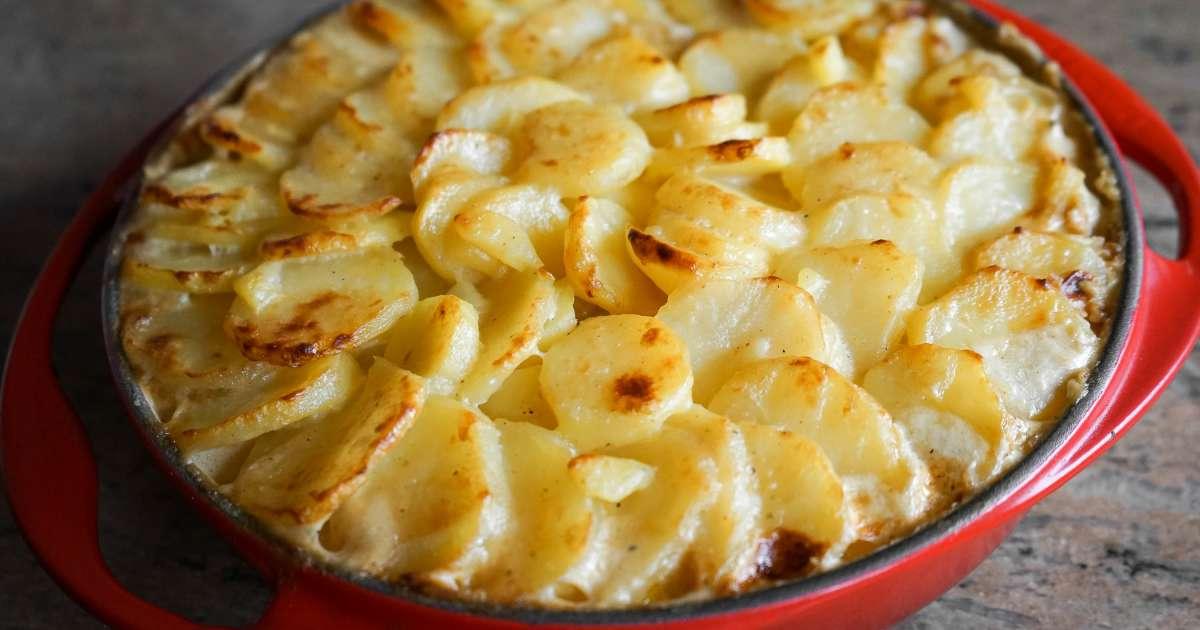 Gratin dauphinois recette du gratin dauphinois traditionnelle ni oeuf ni fromage facile et - Recette de pomme de terre en gratin ...