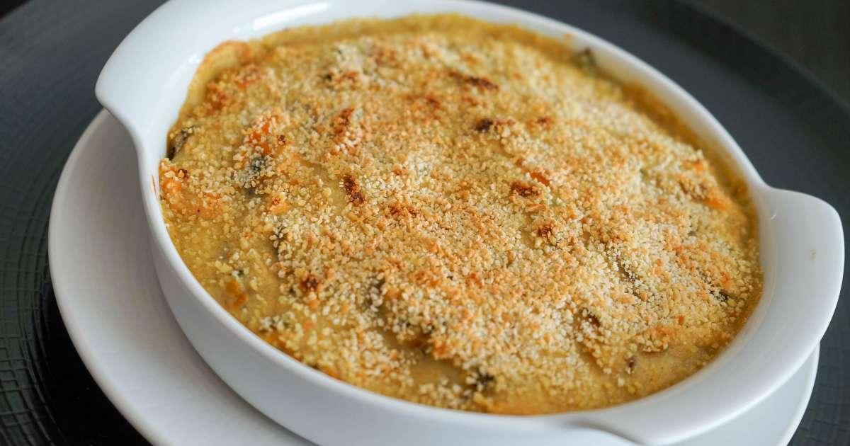Gratin de moules recette du gratin de moules aux pices - Comment cuisiner des moules surgelees ...