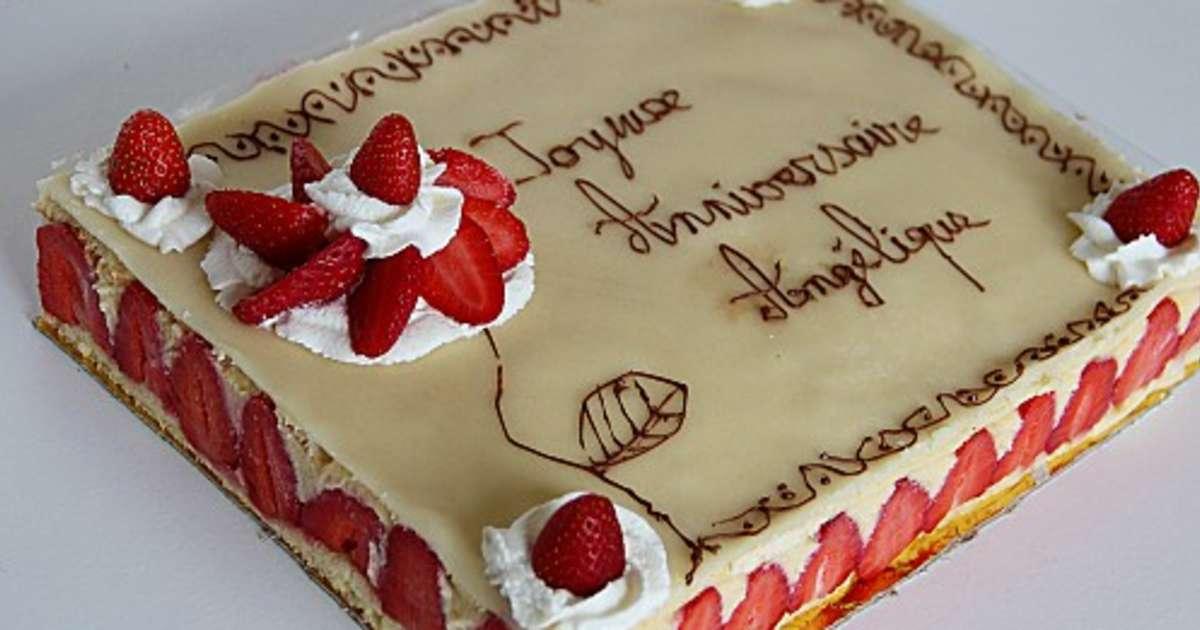 Fraisier recette par la cuisine d 39 am lia - Decoration pour gateaux d anniversaire ...