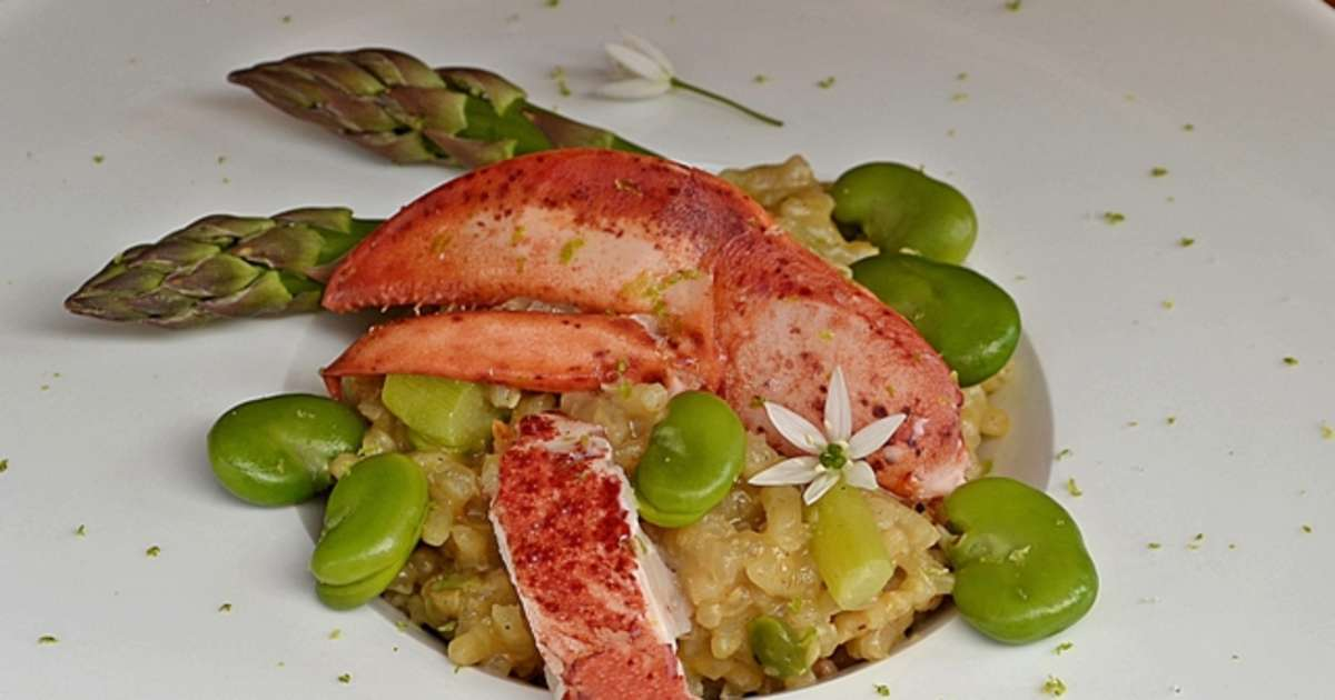 Risotto au baby homard asperges et f ves fraiches - Cuisiner les feves fraiches ...