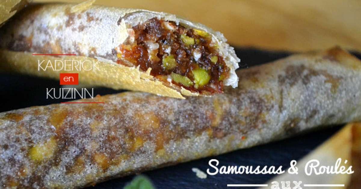 Samoussas et roul s aux dattes pistaches amandes et miel - Cuisine orientale facile ...