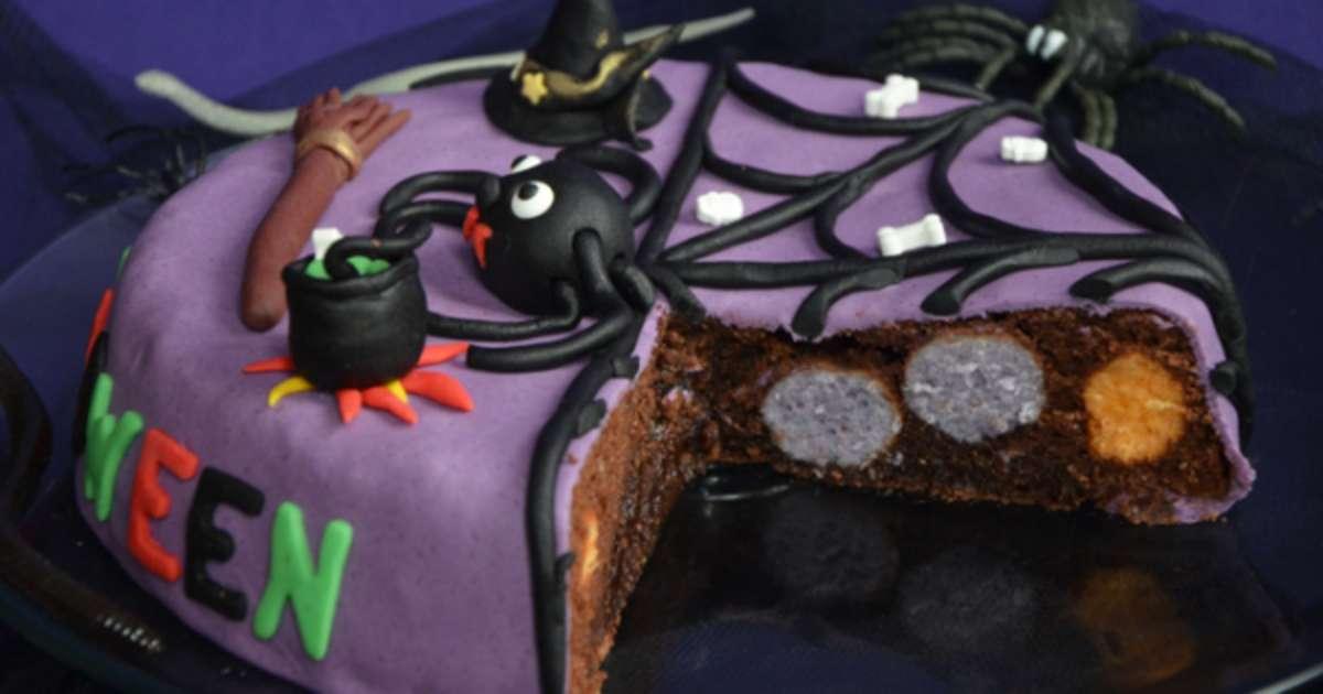 G teau d 39 halloween chocolat yaourt recette par turbigo gourmandises - Recette de gateau d halloween ...
