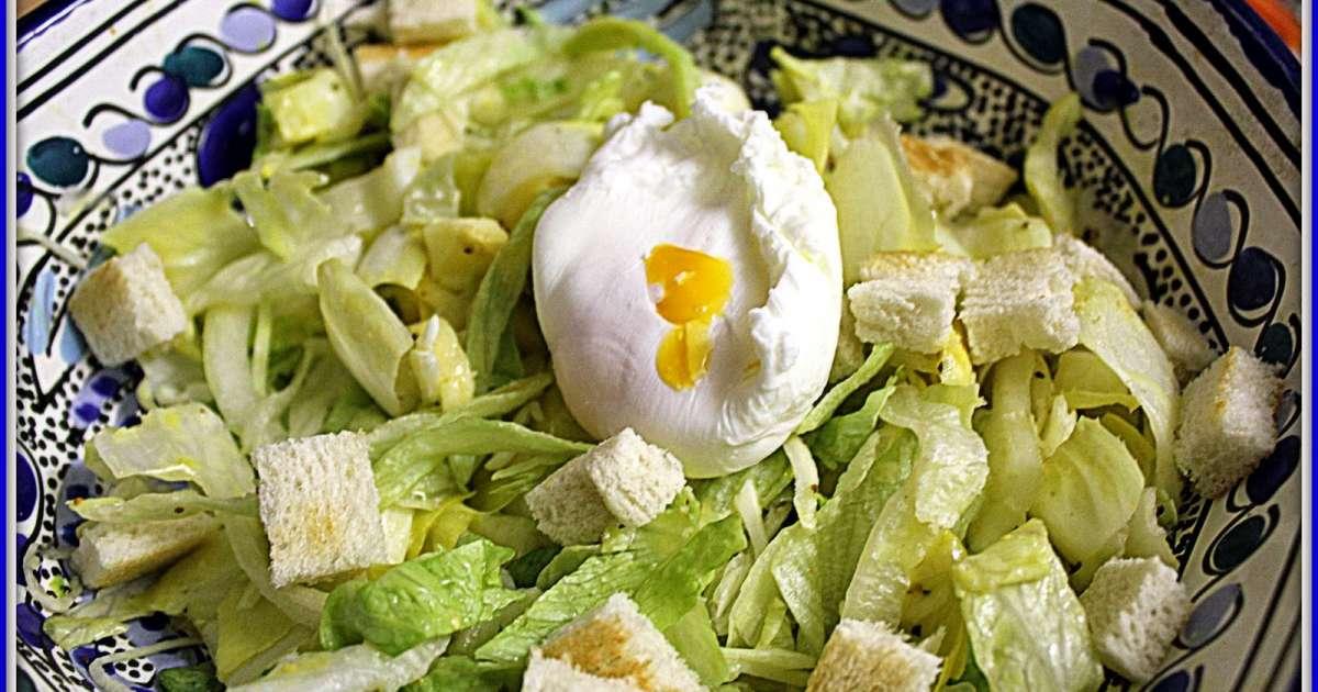 Salade d 39 endives et oeuf poch recette par for Conservation d un oeuf