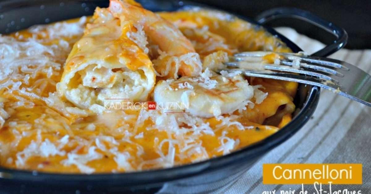 Cannelloni aux saint jacques crevettes et parmesan recette par kaderick - Cuisine italienne cannelloni ...