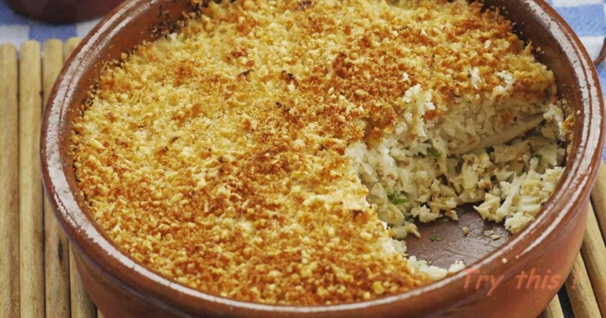Parmentier de lieu noir et chou fleur gratin recette - Cuisiner filet de lieu noir ...