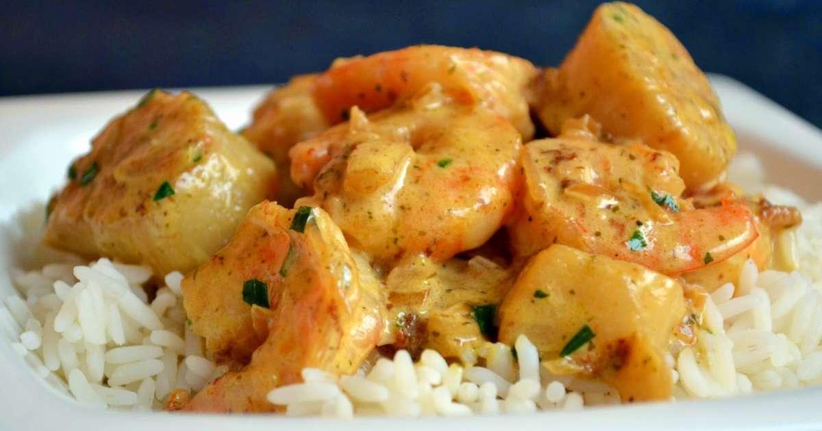 Riz au gambas et saint jacques sauce curry et estragon for Auguste escoffier ma cuisine book