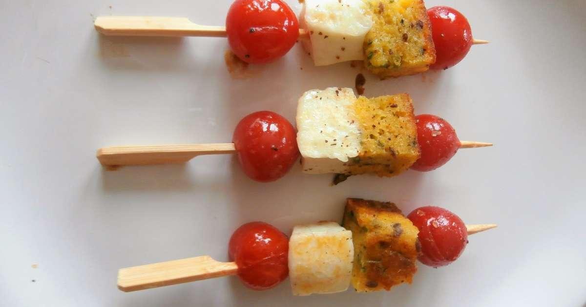 Brochettes ap ritives avec des restes de cake sal - Cuisiner avec des restes ...