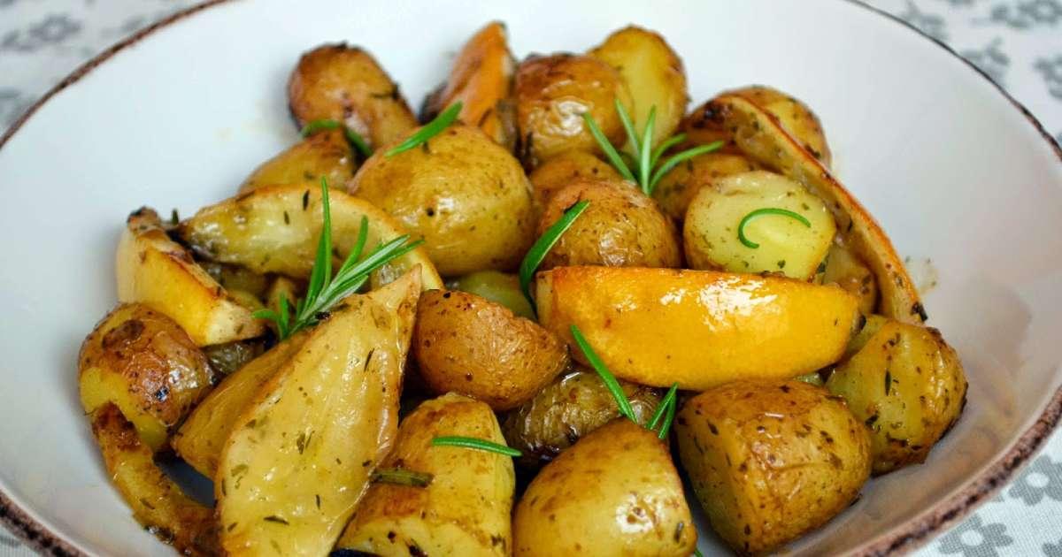 Pommes de terre au four citron et romarin recette par ma cuisine au fil de mes id es - Pomme de terre au beurre ...