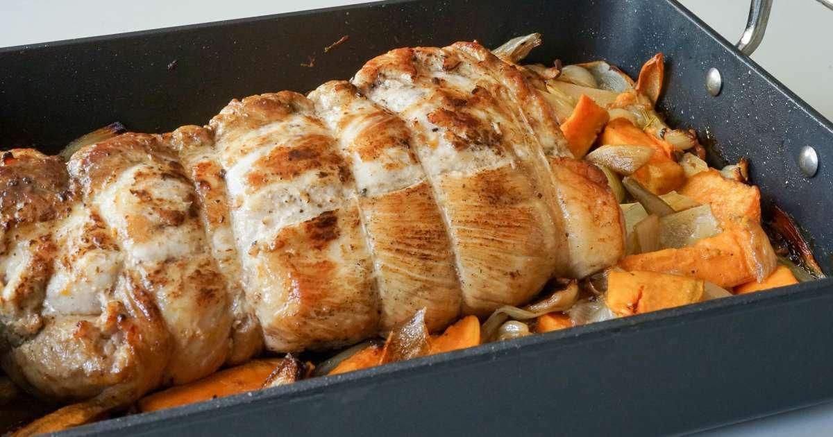 R ti de porc recette du r ti de porc cuisson du r ti de porc ou de veau recette par chef simon - Recette paupiette de porc facile ...
