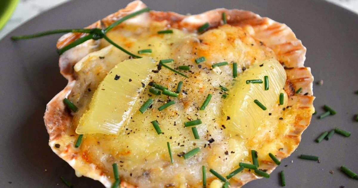 Coquilles st jacques gratin es recette par ma cuisine au - Cuisiner le corail des coquilles saint jacques ...