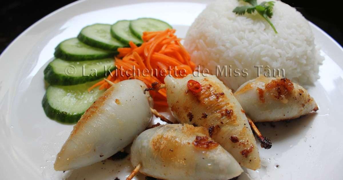 Calamars farcis la vietnamienne recette par la kitchenette de miss t m - Cuisine de babette recettes ...