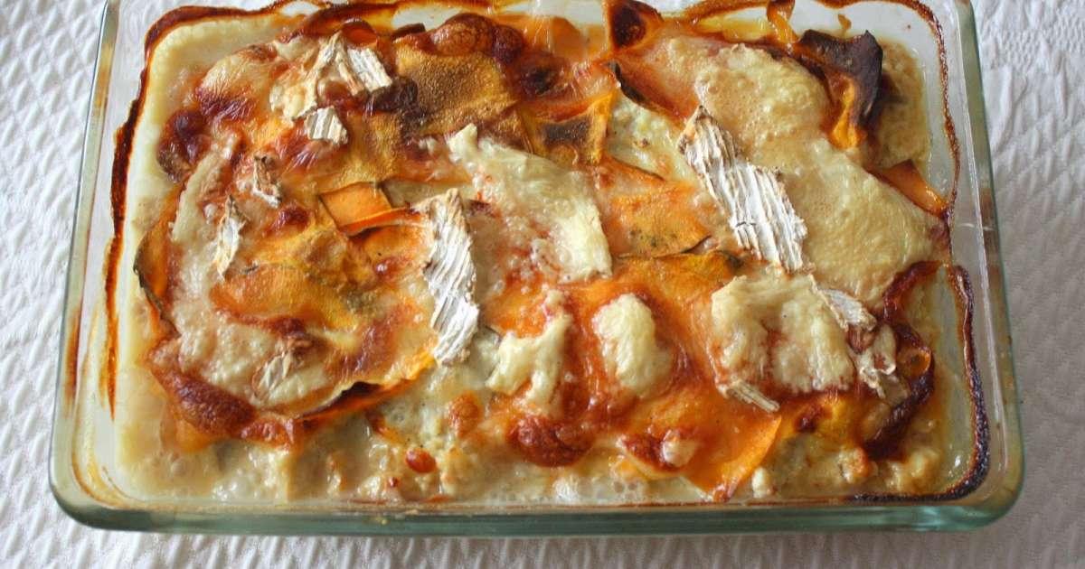 Gratin de patates douces butternut et bleue d 39 artois au poulet recette par my culinary curriculum - Recette poulet patate douce ...