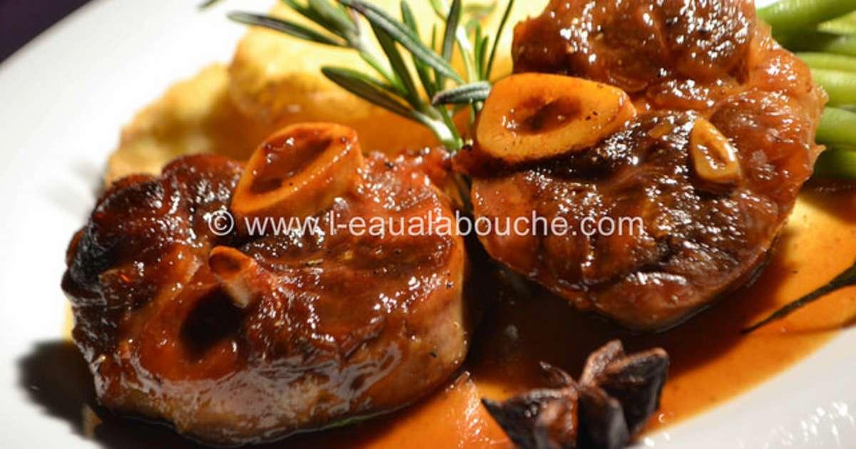 Jarret de porc caram lis sauce au vin cuit recette par - Cuisiner le collier de veau ...