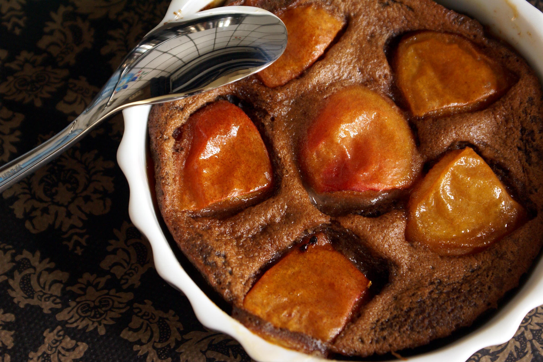 Clafoutis aux abricots et au chocolat