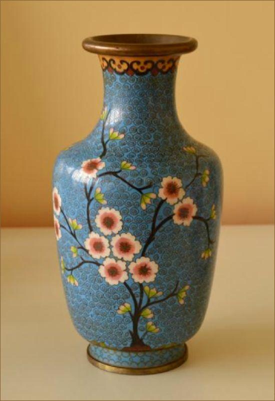 Chinese Cloisonne Vase C1940 Belle Vue Antiques