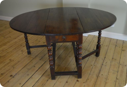 Oak gateleg table, 17th century