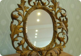 Victorian gilt metal easel mirror