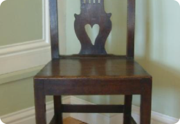 Georgian oak chair