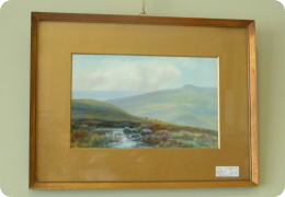 Gilt framed gouache painting, dating to 1921. R.J Lugg
