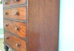 Mahogany chest of drawers, Victorian