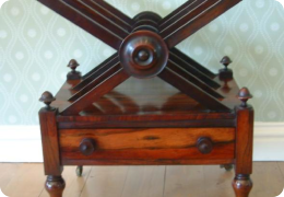 Victorian rosewood canterbury