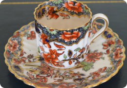 Copeland coffee can and saucer