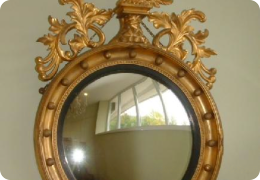 George IV convex wall mirror