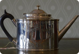 Georgian style Victorian plated teapot