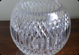 Cut glass bowl shape vase